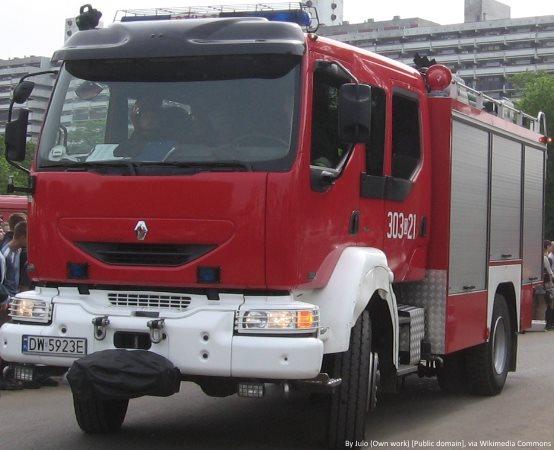 KMPSP Suwałki: Pożar budynku gospodarczego – powiat suwalski